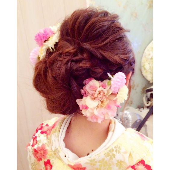 着物 髪型 結婚式 着物 髪型 編み込み : pinterest.com