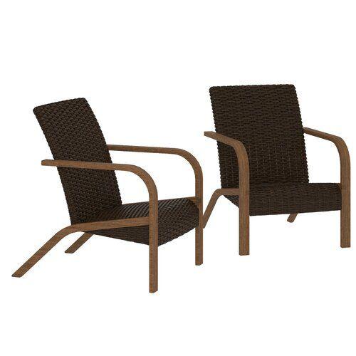 Winston Porter Tiemann Patio Chair Wayfair Patio Chairs Wicker Patio Furniture Sets Outdoor Chairs