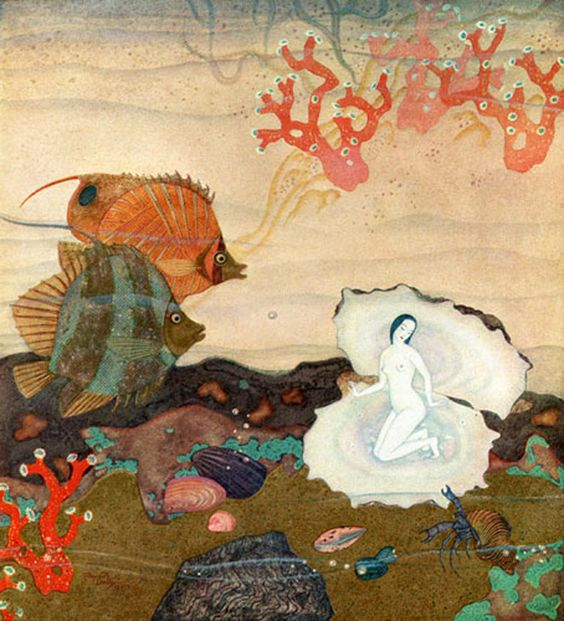 Edmund Dulac, illustration for Léonard Rosenthal's 'Au Royaume de la perle', 1919