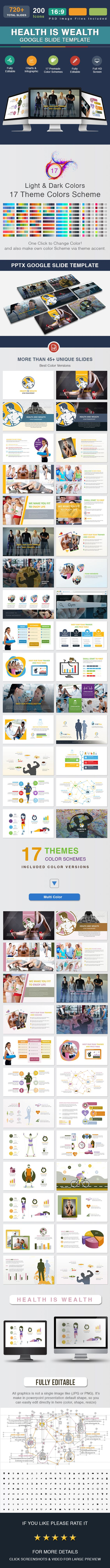 Google themes explorer - Health Is Wealth Google Slide Template