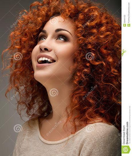 Rood krullend haar
