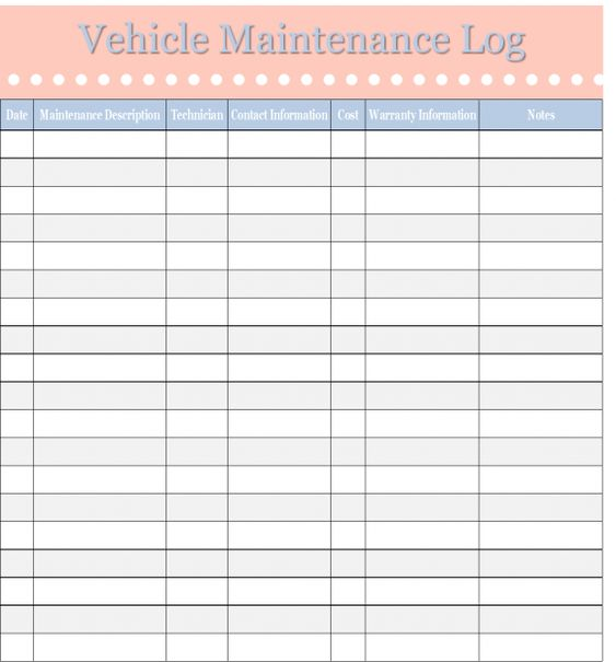 Vehicle Inspection Checklist Template | Tomu.Co