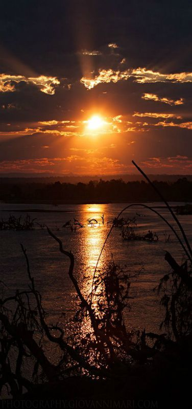 Sunset in Luangwa Valley   by Giovanni Mari