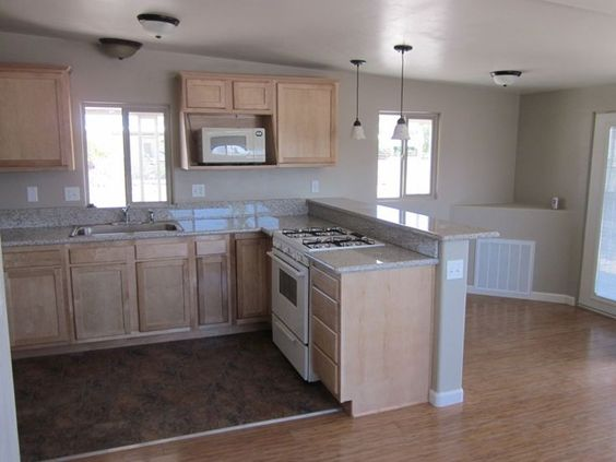 Home remodeling stove and mobile home bathrooms on pinterest Mobile home kitchen remodel pictures
