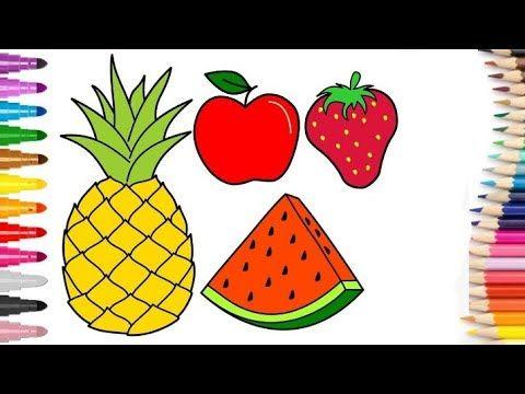 رسومات سهله وبسيطة رسم فواكه سهله رسم سهل جدا تعليم الرسم للمبتدئين خطوة بخطوة Youtube Fruits Drawing Flower Drawing For Kids Drawing For Kids