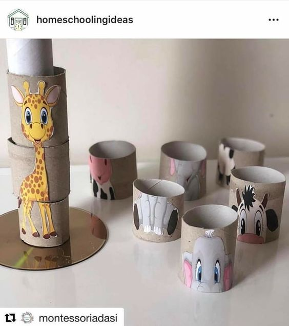 Toilet paper roll puzzle