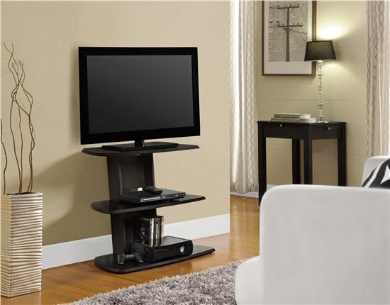 Ameriwood Home Galaxy TV Stand with Mount for TVs up to 65 Wide Black