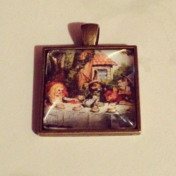 Alice in Wonderland Necklace Charm, $10.00, Free Shipping anywhere in the U.S. www.etsy.com/shop/PortableMagic