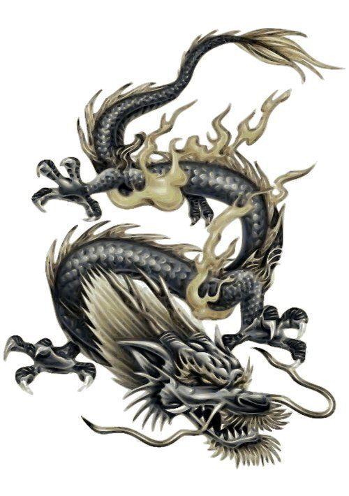 Lamina Dragon Chino De La Suerte En Gris Y Oro De Taiche X Small Art Chines Lamina Lucky Chinese Dragon In Dragones Tatuajes Dragones Dragon Japones