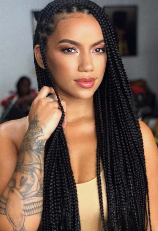 61 Badass Box Braids To Inspire In 2021 Glowsly Small Box Braids Hairstyles Box Braids Hairstyles Box Braids Styling