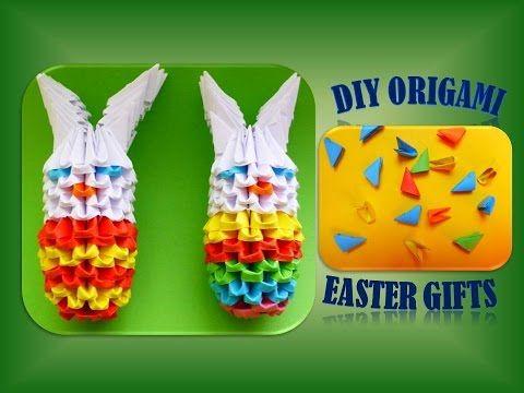 3D Origami Easter egg Пасхальное яйцо с подставкой Модульное ... | 360x480