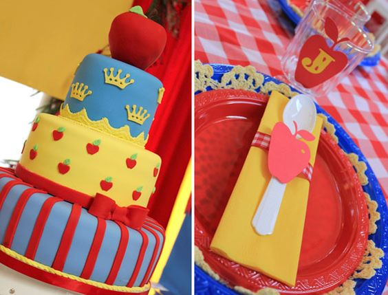 Snow White Birthday Party. For more great birthday party ideas and decorations visit Get The Party Started on Etsy at www.GetThePartyStarted.Etsy.com