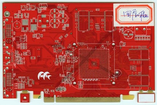 Impedance control Gold finger Red Soldermask 4Layers PCB