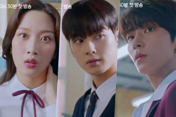 "Watch: Moon Ga Young Falls Into Cha Eun Woo's And Hwang In Yeob's Debt In ""True Beauty"" Highlight Reel"