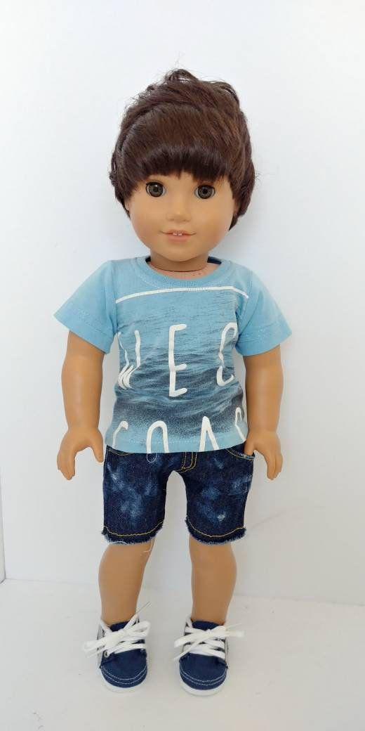 """18/"""" Doll Clothes T-Shirts fits 18/"""" Doll T-Shirt Tops for 18/"""" Boy or Girl Doll"""
