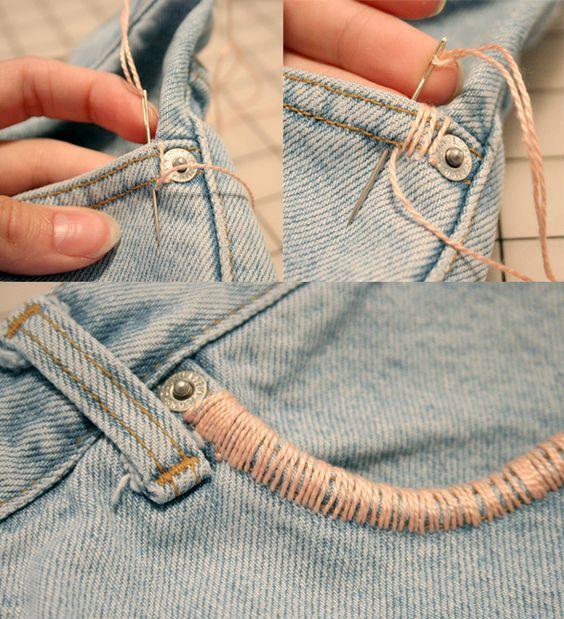 Como tornar umas calças diferentes!