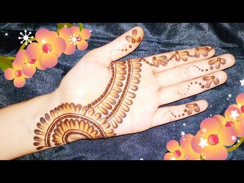 simple mehndi design with earbuds