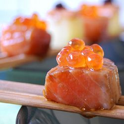 Easy, cheap and delicious: Marinated Salmon Cubes.