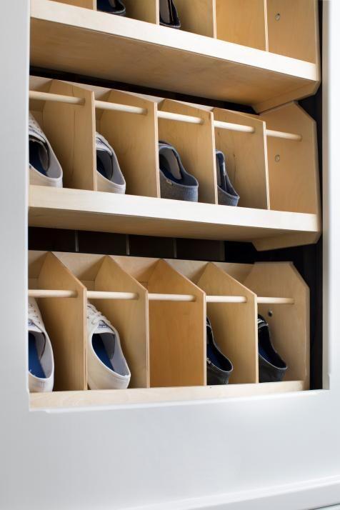 Hgtv Smart Home 2018 Hgtv Organization For Shoes A Shoe Lover S Dream This Master Closet Also Includes An Smart Home Design Smart Home Home Organization