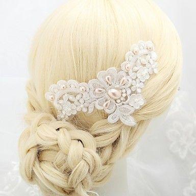 magnifique dentelle / satin mariage / casque d'occasion spéciale – EUR € 6.87