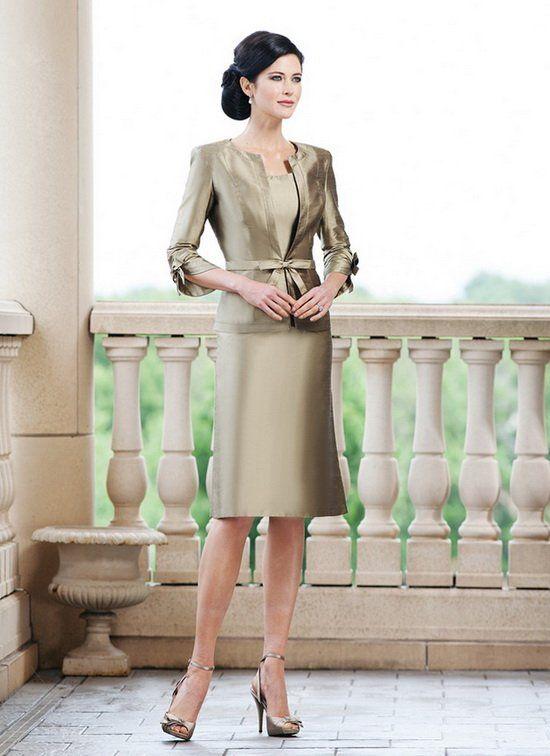 Evening dress three quarter length blazer