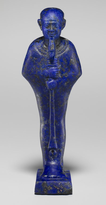 Lapis Lazuli statuette of the Egyptian god Ptah, Dynasty 22–early Dynasty 26 (ca. 945–600 B.C.).