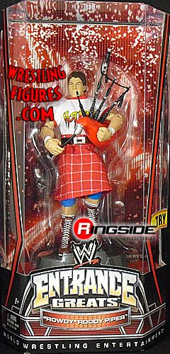 RINGSIDE COLLECTIBLES WWE Toys, Wrestling Action Figures, Jakks Pacific, Classic Superstars Action F: RODDY PIPERENTRANCE GREATSWWE Wrestling Action Figure