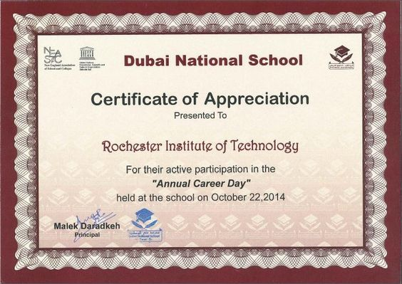 certificate of appreciation for students - بحث Google - certificate of appreciation wordings