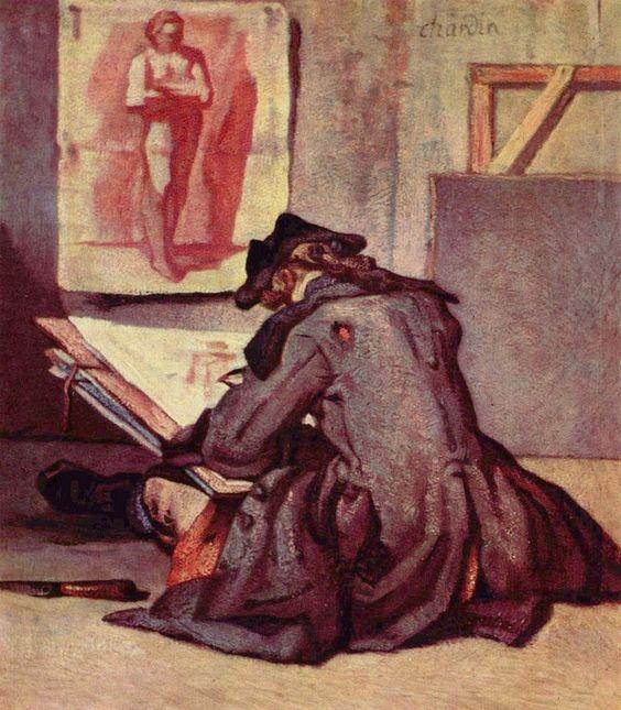 Jean-Baptiste Siméon Chardin: Der Zeichner, um 1738