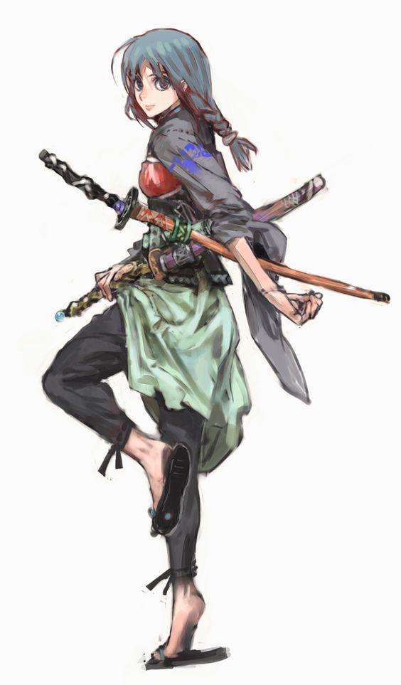 Anime Characters Katana : By humi https facebook characterdesignreferences