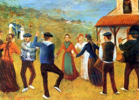 Darío de Regoyos y Valdés - Danza en Vizcaya