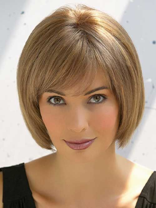 Chin Length Bob With Bangs | The Best Short Hairstyles for Women 2015