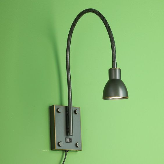Gooseneck Wall Lamp Reading : LED Gooseneck Reading Swing Arm Wall Lamp Wall finishes, Wall lamps and Reading
