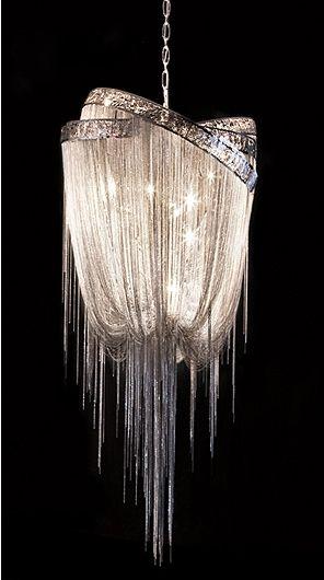 chain mail chandelier hudson furniture lighting