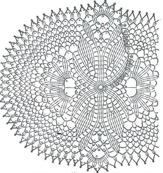 crochet doily pattern: