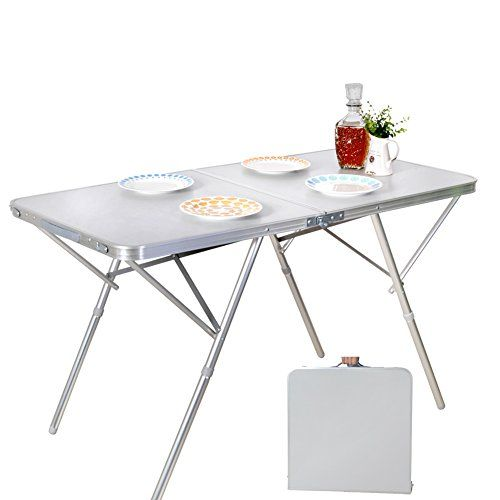 Snail 47 Portable Folding Beach Camping Table With Carrying