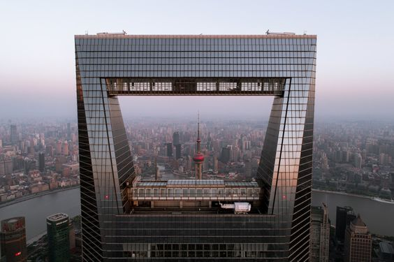 The aperture of Shanghai World Financial Center