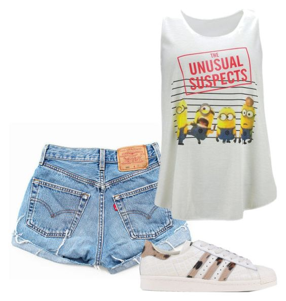"""""""*"""" by gema-z ❤ liked on Polyvore featuring Levi's and adidas Originals"""
