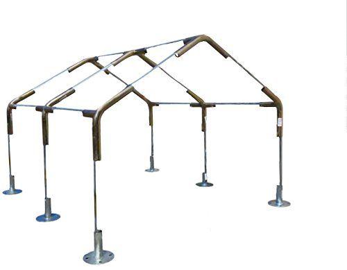 Amazon Com 12 X20 Heavy Duty 1 3 8 Carport Canopy Kit Silver Tarp Foot Pads Poles For Legs Roof Not Included Garden Out Carport Canopy Canopy Carport