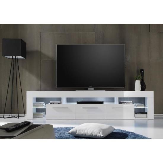 score meuble tv contemporain blanc