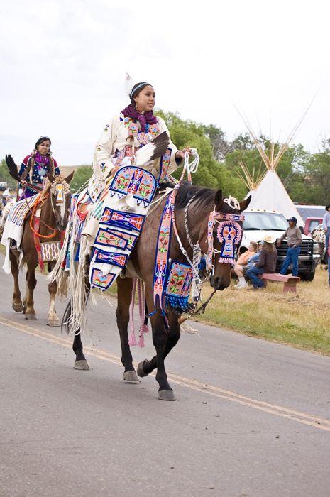 Crow Fair Parade, August 14, 2009. Crow Agency, Montana. Photograph by Emil Her Many Horses, NMAI.