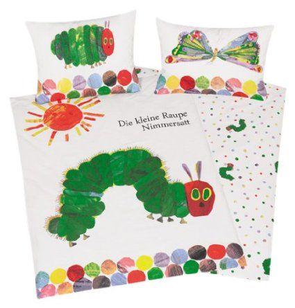 Herding 246001063412 bedding Very Hungry Caterpillar, pillowcase: 40 x 60 cm + duvet cover: 100 x 135 cm, 100% cotton, Renforce