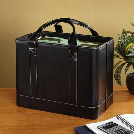 Black Faux Leather File Tote Found A Tote 4999 Looks