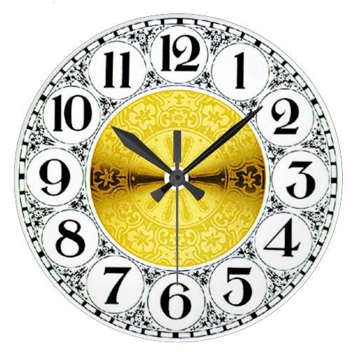 Vintage Black and Gold Clock $24.95 #zazzle #vintage clock #antique clock #clocks