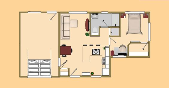 Floor Plan View Of The 488 Sq Ft Mittens Small House