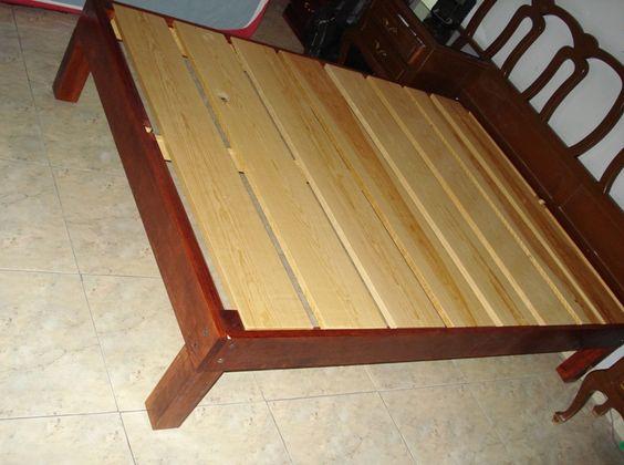 Base desarmable para cama mis trabajos pinterest for Bases de cama hechas con tarimas