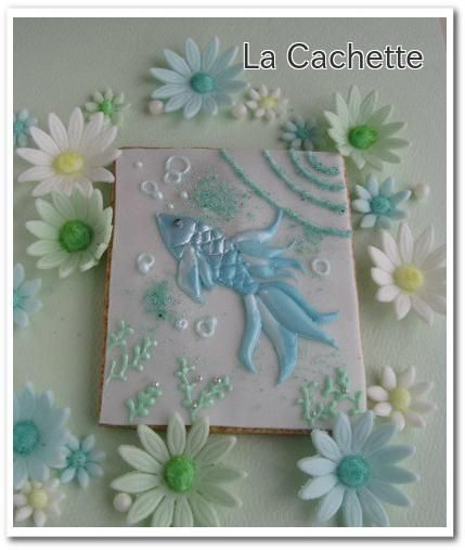 - Landscape with refreshments La Cachette ~ | image of icing cookies Bluefish