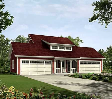 Plan 57162ha 4 car apartment garage with style house for 4 car garage with apartment above