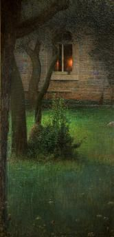 """Louis Welden Hawkins 1849-1910 """" Le foyer """"1899"""