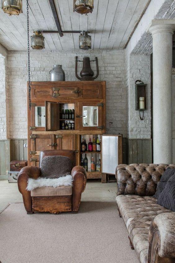 Fauteuil En Cuir Club Canape Club Deco Maison Deco Moderne